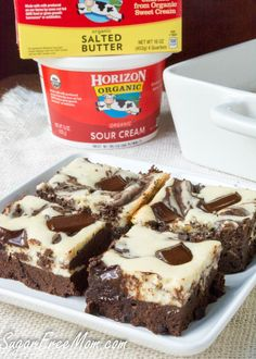 Sugar-Free Cheesecake Brownies {Gluten Free and Low Carb}