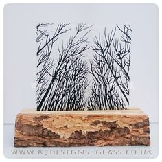 Trees glass art wood forest