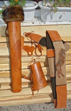 "Archery Leather Set ""Celtic Unicorn"". $340.00, via Etsy."