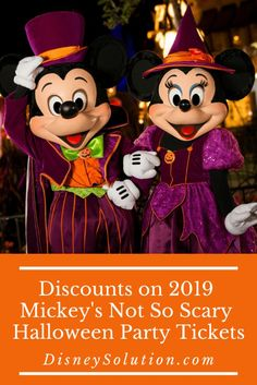 Discounts on 2019 Mickeys Not So Scary Halloween Party Tickets | Disney Solution #waltdisneyworld #mickeysnotsoscaryhalloweenparty #magickingdom #disneyparty #disney #disneytraveltips #disneytreats #disneyattractions #disneytravel #disneytravelagent #familyvacation #halloween #fall #holidayseason #mickey