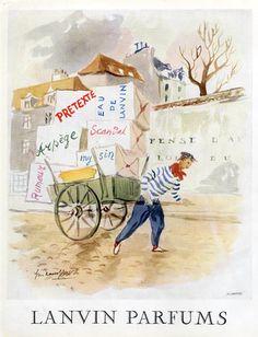 Lanvin parfums 1951  Arpège, Prétexte, Eau De Lanvin...Guillaume Gillet,