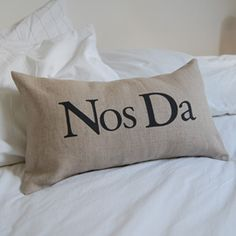 Nos Da cushion (Goodnight cushion)