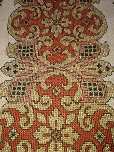 Cross Stitch Embroidery, Cross Stitch Patterns, Needlepoint, Embroidery Designs, Bohemian Rug, Diy Crafts, Traditional, Rugs, Knitting