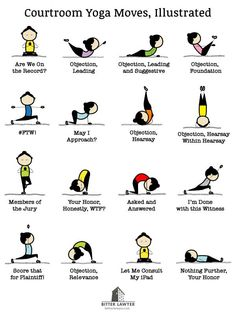 Courtroom Yoga Moves, Illustrated - Bitter Lawyer