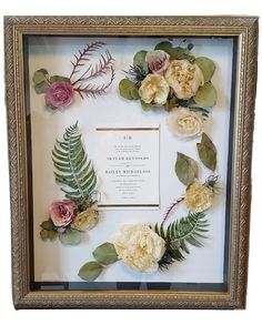 Wedding Flower Preservation by Leigh Florist a South Jersey wedding florist Bouquet Shadow Box, Custom Shadow Box, Flower Preservation, Unique Anniversary Gifts, How To Preserve Flowers, Botanical Wedding, Flower Bouquet Wedding, Box Design, Dried Flowers