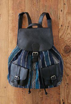 Baja Pattern Backpack | Forever 21 - 1000077388