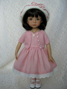Adorable as always Diana Effner Doll, in dress by Tomi Jane