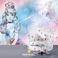 """""""Cinderella"""" Duvar Resmi ile çocuk odanızın atmosferi değişsin!  #duvarresmi #çocukodası #cindrella #art #tasarım #dekorasyon"""