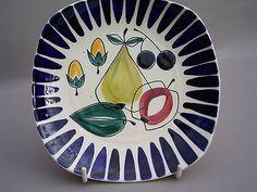 Vintage Small Plate by Inger Waage Stavangerflint Norway 1960s 1950s Norwegian
