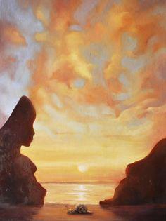 """Andrea Esposito,  """"Le tre età dell'uomo"""", olio su tela, 40x30cm, 2014"""