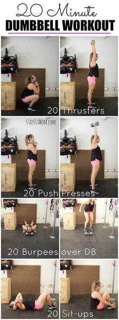 Crossfit pour femme   Description Un excellent entraînement HIIT avec juste  un haltère!  stayfitmom 88c0015a039