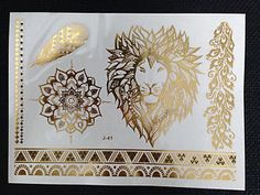 Temporary-Metallic-Tattoo-Gold-Silver-Black-Flash-Tattoos-Inspired ...