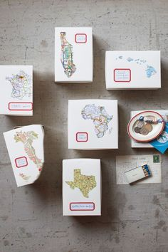 DIY Souvenir Boxes - Postcards, matchbooks, and coins tell the stories of our travels, but back home these trinkets tend to get lost in a junk drawer. Instead, give vacation souvenirs—as well as snapshots—a more fitting home with this diy project.
