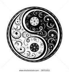 Yin Yang Symbol Vector Illustration Eps8 All Parts Closed
