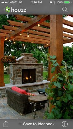 Outdoor Fireplaces on Pinterest
