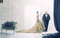 #prewedding #studio #indoor #indraleonardi #golden #gown #inspiration
