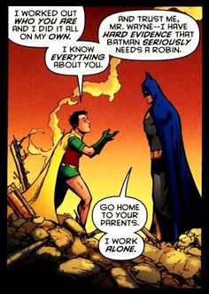 Origin of Timothy Drake: When just a young boy, Tim was in attendance at the circus on the night the Flying Graysons were murdered. Some years later, he saw footage of Batman and Robin apprehending the Penguin, and the lad was deeply impressed when Robin performed a quadruple somersault (a rare maneuver that only Dick Grayson and a few others could perform). When Tim eventually learned that Grayson was Bruce Wayne's ward, he (quite impressively) deduced that Wayne had to be Batman, and…