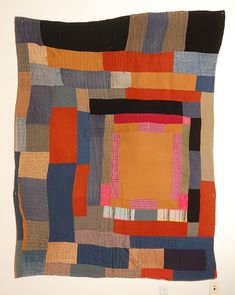 African American Abstract Quilt. Attributed to Gees Bend, AL | From a unique collection of antique and modern quilts at https://www.1stdibs.com/furniture/folk-art/quilts/