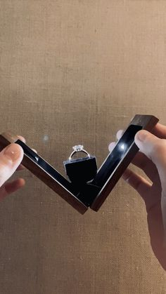 Slim engagement ring box with light illuminated ring case for proposal - ring box case boxes for marriage proposal ideas how to make engagement wedding anniversary gift mi - Wooden Ring Box, Wooden Rings, Wooden Gift Boxes, Wooden Jewelry Boxes, Wood Boxes, Proposal Ring Box, Proposal Photos, Unique Proposal Ideas, Romantic Proposal