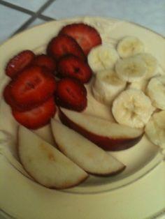 Strawberries, apples, bananas