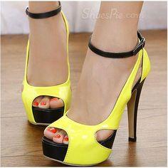 New Blue Stiletto Heels Peep-toe PU Upper Platform Women Shoes