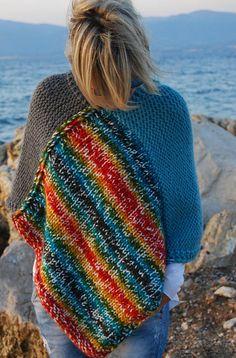 Poncho / Πόντσο Knitwear, Blanket, Crochet, Handmade, Blankets, Tricot, Knit Crochet, Craft, Stricken