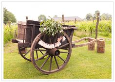 decorated wooden cart