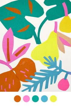 Fruit illustration collage Ideas for 2019 Fruit Illustration, Collage Illustration, Rabbit Illustration, Screen Printing, Pattern Design, Art Drawings, Print Patterns, Textiles, Decoration
