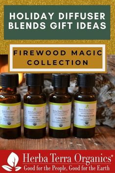 Herba Terra's Firewood Magic Bundle is the perfect gift for anyone! This aromatic, blend of essential oils can be placed on wood logs or used as a diffuser blend.The scents from Cedarwood, Frankincense, Myrrh, and Vetiver oils in this blend are like an aromatic treasure and will fill any space with an exquisite aroma. Tap the image to read our 2020 gift guide & shop this bundle now. #essentialoilgiftguide #herbaterraorganics Frankincense Essential Oil Uses, Cedar Essential Oil, Frankincense Oil, Essential Oils, Vetiver Oil, Holiday Essentials, Diffuser Blends, Aromatherapy, Gift Guide