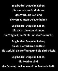 """""""Es gibt drei Dinge im Lebe, die niemals zurückkehren: ..."""" #Spruch  von: deutschland-germany.tumblr.com"""