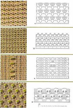 crochet stitch pattern charts