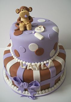 Monkey Baby Shower by Brenda's Cakes - Ohio, via Flickr