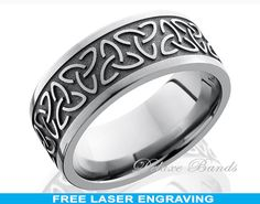 Celtic Titanium Ring,Mens Titanium Wedding Band,Celtic Trinity Design Titanium Wedding Ring,Eternity Band,Titanium Anniversary Ring,Handmade on Etsy, $329.99