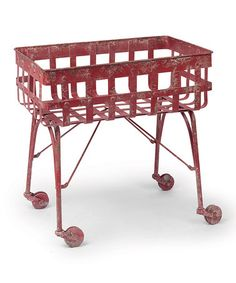 Loving this Red Lattice Cart on #zulily! #zulilyfinds