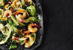 Selleriesalat mit Avocado und Garnelen