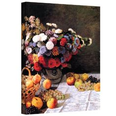 Art Wall Flowers and Fruit by Claude Monet Gallery Wrapped Canvas, 14 by 18-Inch, By Art Wall // $58.04  Features: - Artist: claude monet - Title: flowers and fruit - Style: impressionism - Dimensions: 14x18 - Reproduction is completely made in the usa, printed on high quality canvas and professionally hand-stretched/gallery wrapped-  >>Get Inspired! - Visit http://artcaffeine.imobileappsys.com