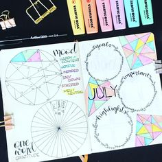 """15 Likes, 2 Comments - BuJo Lab (@bulletjournalexperiments) on Instagram: """"One more awesome thing about school holidays is more #bujotime !! Tracking moods this month for the…"""""""