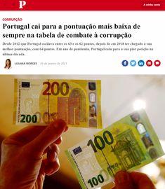 Nas escolas portuguesas o Governo de Portugal lançou uma campanha para sensibilizar os estudantes para a luta contra a corrupção. Contudo os dados mostram que vivemos os anos de maior corrupção. Portugal, Students, Tables, Schools, Campaign, Geography, News