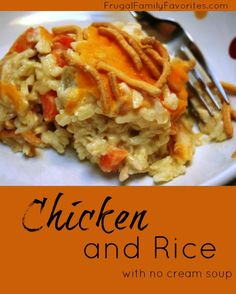 Chicken and Rice no cream soup