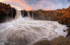 Okolice Myvatn, Północna Islandia, Magnus Aldeyjarfoss, ISLANDIA