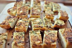 Parmesan + Roasted-Garlic Bread