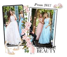 """Sherri Hill 51099 Illusion Lace Blush Prom Dresses Sales"" by chicpromdress ❤ liked on Polyvore featuring Sherri Hill and Giuseppe Zanotti"