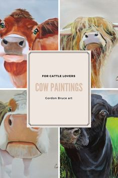 These are my latest #cow #paintings