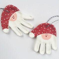 kreativ basteln handdrücke als weihnachtsdeko