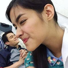 Forevermore Page Liked · 10 hrs · Good morning smile emoticon Nose to Nose heart emoticon Please like: Everyday I Love You SOON Enrique Gil, Liza Soberano, Heart Emoticon, Filipina Beauty, Celebs, Celebrities, Filipino, First Love, Eye Makeup