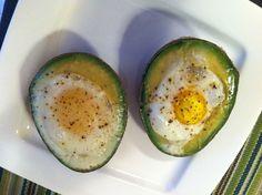 eggs stuffed in avocado