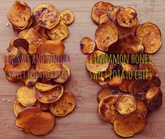 sweet potato chips in different flavors