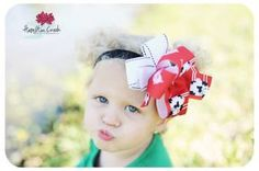 Rock'in Moo  Cow Double boutique bow  with by SparklingTwinkies, $10.95