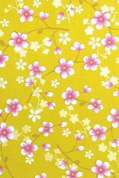 PiP Cherry Blossom Geel behang