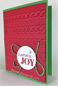 Holly Jolly Greetings, Cable Knit, Stampin' Up!, BJ Peters, #cableknit…
